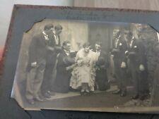 Antique post card album Theatrical interest