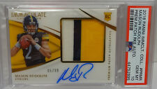 PSA 10 2018 Panini Immaculate Mason Rudolph Steelers 3CLR Patch RC Auto #05/99