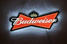"""New Budweiser Bowtie Logo Man Cave LED Neon Sign 20"""""""