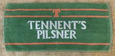 Vintage Tennents Pilsner Beer British Bar Towel