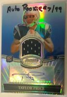 2010 Bowman Sterling Blue Refractors #BSARTP Taylor Price Jersey Auto 7/99 RC