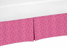 Pink Bandana Print Baby Crib Skirt Or Dust Ruffle For Sweet Jojo Cowgirl Bedding