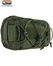 Tactical Olive Green Fast Mag Pouch Molle Compatible ID Panel Zipped Compartment