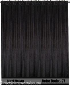 Saaria Velvet Curtain Panel Drape Home Theater Curtain 8'W x 8'H Black-77