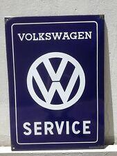 XXL Dealer Volkswagen Service Porcelain Enamel Sign 1960 Original Genuine T1 T2