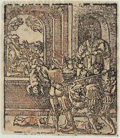 KINDERMORD Baby Original Postinkunabel Holzstich 1550 Herodes Bethlehem Kinder