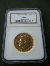 More details for rare 1911 george v gold proof £2 two pound coin ngcpf64