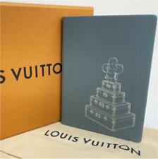 Louis Vuitton VIVIENNE Light Blue Leather Lined Notebook in Box Promo Gift New