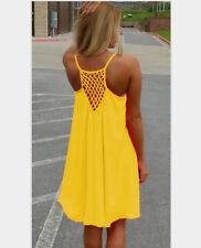 Women Summer Chiffon Beach Mini Dress Swimwear Bikini Cover Up Loose Sundress
