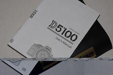 Véritable appareil photo reflex numérique Nikon D5100 Original guide de l'utilisateur Manuel d'instruction