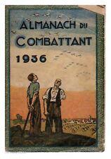 ALMANACH DU COMBATTANT 1936 EM
