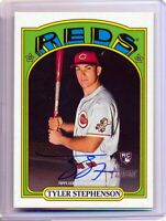 2021 Topps Heritage Rookie Autograph Tyler Stephenson RC Blue SP | FREE SHIPPING