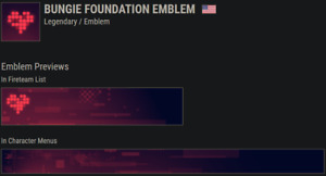 Destiny 2 Bungie Foundation Emblem | 24/7 Instant Delivery | Codes IN-HAND