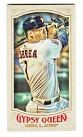 2016 Topps Gypsy Queen MINI VARIATION 90 CARLOS CORREA VAR SP QTY AVAILABLE