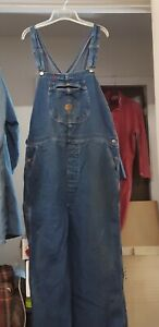 """Overall 42R Red Kap Denim Button Fly 32"""" Inseam Just $20 Much Life Left"""