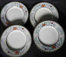"""H] Lot x4 assiettes à dessert """"PETRUS REGOUT & Co MAASTRICHT"""" (""""Elvire"""")"""