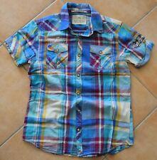 SCOTCH & SODA Vintage Hemd | Kurzarm Blau Kariert Sommerhemd - S Small