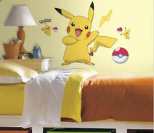"PIKACHU wall stickers Pokemon MURAL 12 decals  Pokeball 28""x29"" party decor"