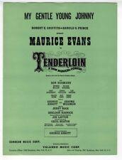 BROADWAY SHOW Sheet Music 1960 My Gentle Young Johnny JERRY BOCK Tenderloin