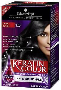 Schwarzkopf Keratin Intense Caring Color Onyx Black