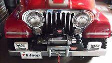 Jeep CJ headlight trim bezel set(2) ,CJ Laredo, CUSTOM MOUNTING HARDWARE