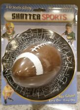 Shatter Sports 3-D Static Cling Window Decal Football ~ Novelty Auto Gift ~ Nip