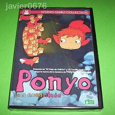 PONYO EN EL ACANTILADO STUDIO GHIBLI DVD NUEVO Y PRECINTADO