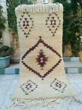 "Vintage Moroccan Handmade Rug wool Azilal Carpet Tribal Berber Rug 5'4"" x 2'5"""