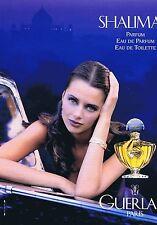 Publicité Advertising 016 1996 Guerlain parfum Shalimar