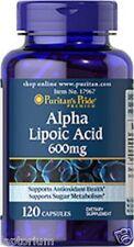 El ácido alfa lipoico 600mg, X120 Cápsulas Puritans Pride Premium,