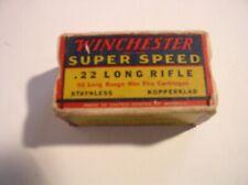 Winchester Super Speed .22 Long Rifle Cartridge Box