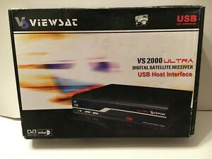 ViewSat VS2000 Ultra Digital Satellite Receiver With Remote Used Working