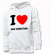 I LOVE ONE DIRECTION HOODIE SWEAT S-XXL 1D HARRY STYLES HORAN  PAYNE TOMLINSON