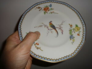 Eden BIRD OF PARADISE  4 bread plates Theodore Haviland France LIMOGES