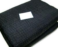 Williams Sonoma Home Black Silk Cotton Pickstitch Full Queen Quilt New