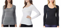 Women's Weatherproof 32 Degrees Base Layer Long Sleeve Scoop Neck VARIETY B43