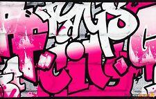237917 rasch rose blanc argent tag graffiti wallpaper border