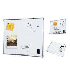 Homcom Tableau Blanc Magnétique Effaçable À sec Cadre en alu 120 x 90cm