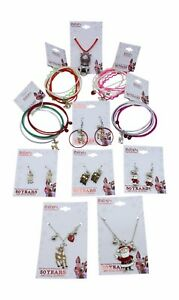 New 11 PC Official Rudolph the Red Nose Reindeer Jewelry Lot Clarice Santa Etc..