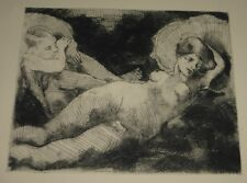 Copper Plate Etching Jupiter Seduction of Antiope