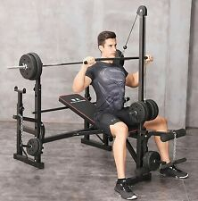 Multi-Function Weight Bench Press - Adjustable Fitness Exercise Bench Home Gym