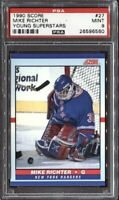 Mike Richter 1990 Score Young Superstars Hockey # 27 PSA 9 Mint