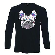 French Bulldog Sugar Skull Long Sleeve T-Shirt