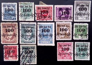 SUDETENLAND WWII, GERMAN OCCUP.  USED LOT (Rumburg)