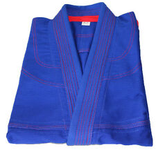 Brazilian Jiu Jitsu Jacket for Mens - Blue/Red Pearl Weave 100% Cotton Preshrunk