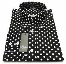 Spotted Long Sleeve Casual Shirts & Tops for Men