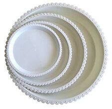 "Mr. Garden White Plastic Plant Saucer, Plant Tray, Pack of 10 (7.9"" Dia)"