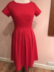 Ladies Red Fifties Style Dress S