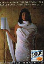 Publicité advertising 1985 Essuie-Tout Page