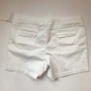 Caslon White Cotton Utility Shorts Size 16 NWT Vacation!